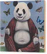Panda Buddha Wood Print