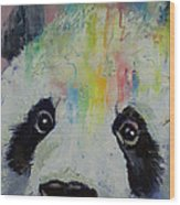 Panda Rainbow Wood Print
