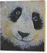 Panda Smile Wood Print by Michael Creese