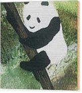 Pandamonium Wood Print