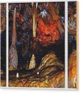 Panels Of A Cave Wood Print