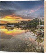 Panglao Port Sunset Wood Print