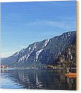 Pano Of A Man With His Fuhr Boat Wood Print