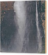 Panorama Angel Falls In Canaima National Park Venezuela Wood Print