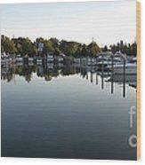 Panorama Harbor 02 Wood Print