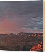 Panorama North Rim Grand Canyon National Park Arizona Wood Print