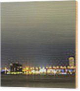 Panorama Of Biscayne Bay In Miami Florida Wood Print by Andres Leon