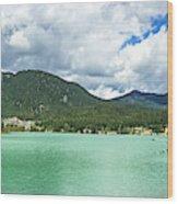 Panorama Of Green Lake, Whistler Wood Print
