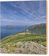 Panorama Of The Outer Bay Of Islands, Newfoundland Wood Print