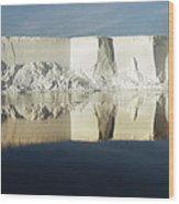 Panorama Of Iceberg Ross Sea Antarctica Wood Print