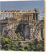 Panorama Of The Acropolis In Athens Wood Print