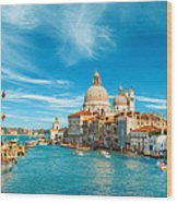Panorama Of The Basilica Santa Maria Della Salute Wood Print