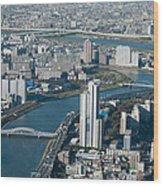 Panorama Of Tokyo Wood Print