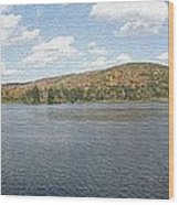 Panorama Red House Lake Allegany State Park Wood Print