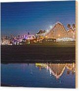 Panorama - Santa Cruz Boardwalk Wood Print