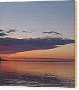 Panorama - Toronto Sunrise In June  Wood Print
