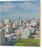 Panoramic Aerial View Of Durban, South Wood Print