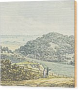 Panoramic After View, From The Red Book Wood Print