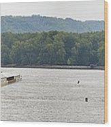Panoramic Barge Wood Print