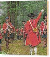 Panoramic Battle Of Bushy Run Wood Print