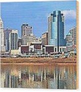 Panoramic Cincinnati Wood Print