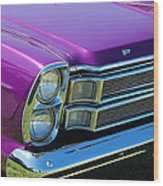 panoramic Ford Galaxie Wood Print