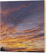Panoramic Hill Country Sunset Wood Print