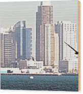 Panoramic Image Of San Diego From The Harbor Wood Print by Artist and Photographer Laura Wrede