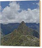 Panoramic Machu Picchu Wood Print