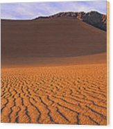 Panoramic Mesquite Sand Dune Patterns Death Valley National Park Wood Print