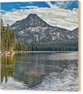 Panoramic Of Anthony Lake Wood Print