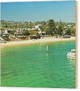 Panoramic Photo Of Camp Cove At Watsons Bay Wood Print