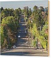 Panoramic Photo Of Katoomba Street Wood Print