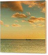 Panoramic Photo Sunrise At Monky Mia Wood Print