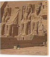 Panoramic Photograph Of Famous Egyptian Monument Wood Print