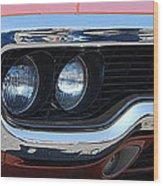 panoramic Plymouth GTX Wood Print