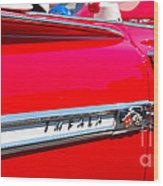panoramic red Impala Wood Print