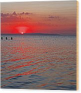 Panoramic Summer Sunset Wood Print