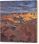 Panoramic Sunrise Over Dead Horse Point State Park Wood Print