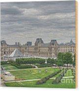 Panoramic View Musee Du Louvre Wood Print