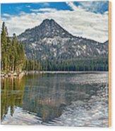 Panoramic View Of Anthony Lake Wood Print