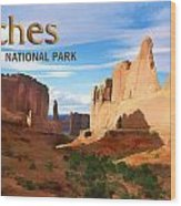 Panoramic View Of Arches National Park  Wood Print