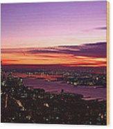Panoramic View Of Empire State Wood Print