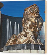 Panoramic View Of Mgm Lion And Mgm Wood Print