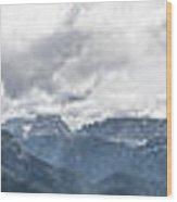 Panoramic View Of San Pellegrino Pass Wood Print
