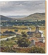 Panoramic View Of The Ile-de-france Wood Print