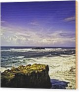 Panoramic View Of The Pacific Ocean Wood Print