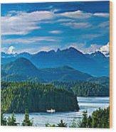 Panoramic View Of Tofino Vancouver Island Canada Wood Print
