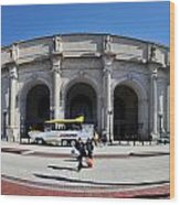 panoramic View of Union station in Washington DC Wood Print