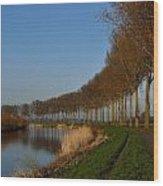 Panoramic View On Pottes - Belgium Wood Print